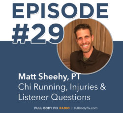 Matt Sheehy Chi Running Injuries